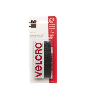 VELCRO Brand Sticky - Back Tape 4pcs 0.75''x3.5'' - Beige