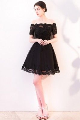 7d859218046 Little Black Homecoming Dress with Cute Bow Open Back -  62.1  HTX86087 -  SheProm.com