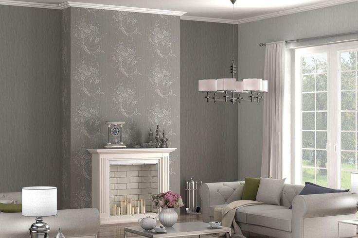 Die floralen Element verströmen eine mondäne Opulenz Mit einem - moderne tapeten fürs wohnzimmer