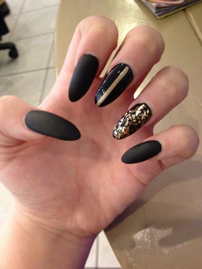 Best 25 black acrylic nails ideas on pinterest black nails nail designsbe glam with black and gold nail designs black and gold acrylic nail prinsesfo Gallery