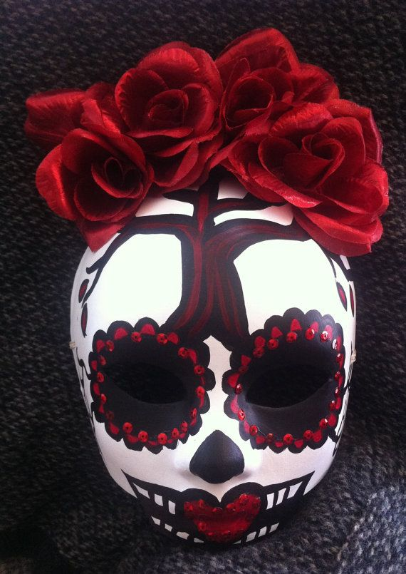 Day of the Dead Masquerade Sugar Skull Mask - Reserved ...