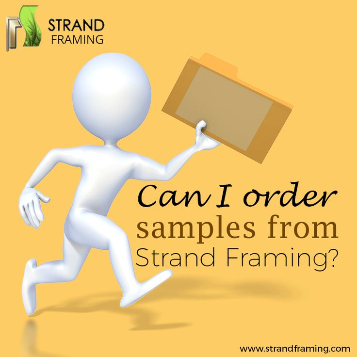 Want to know how to order #Frame samples from Strand Framing Ltd? From this short and informative #GIF image, you'll get the answers to all your questions.
