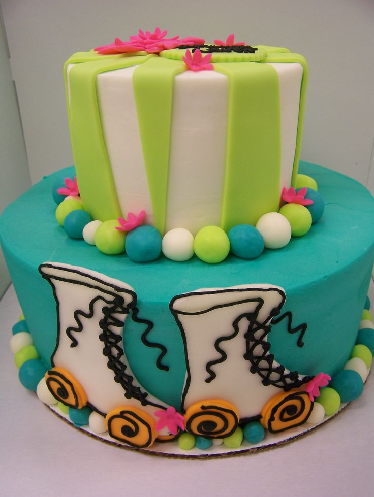 3 Women and an Oven made this fun roller skating cake! Skate on over to Overland Park to get yours!  http://3womendesserts.com/