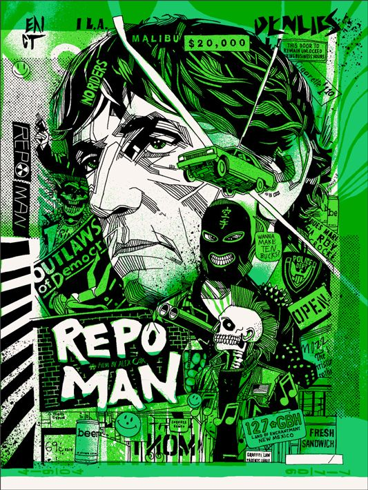 Fashion and Action: The Life of a Repo Man is Always Intense...Art by Tyler Stout