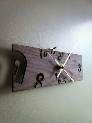 Wooden clock - available soon on Etsy. #wood #laser #engraved #lasercut