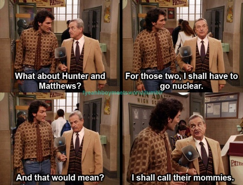 Boy meets world so relateable I knew if my mom had to b called to the school I was in for it.