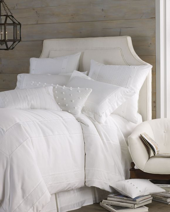clean white sheets to live beautifully
