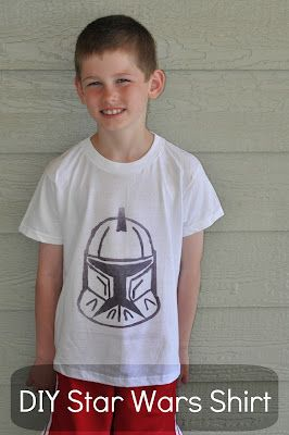 DIY Star Wars Shirt-from a coloring page, looks like a fun way for kids to do custom tees, maybe a bday party?