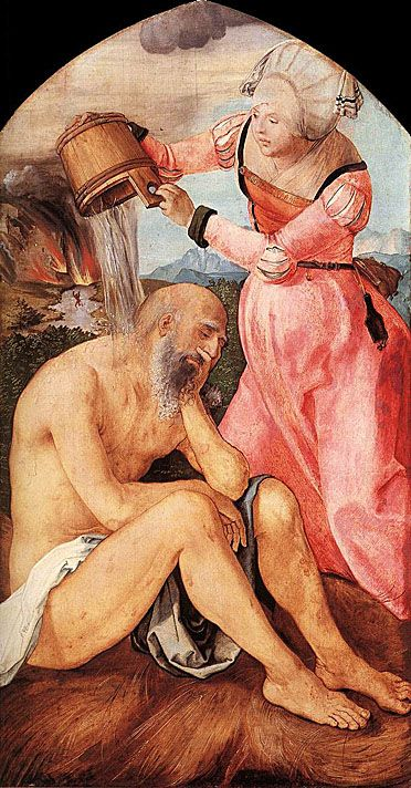 Albrecht Durer (1471 - 1528) - Job and His Wife - c.1504