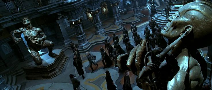 Chronicles of Riddick. Necromongers' throne hall (top view)
