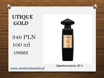 Perfumy UTIQUE  GOLD - ekskluzywna nowość