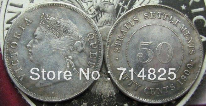 1900 Straits расчеты Королева Виктория 50 Cent КОПИЯ