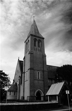 L1M1AP2. Found a old photo, of one of many church's in Bundaberg. It was over cast, used B/W & tripod. Time release of 2 sec. I like the over cast sky sitting over the church, gives a dark side to the image.