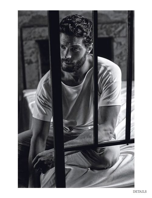 Jamie Dornan Poses for Details February 2015 Cover Shoot, Fears Being Murdered by Crazy Fifty Shades of Grey Fan