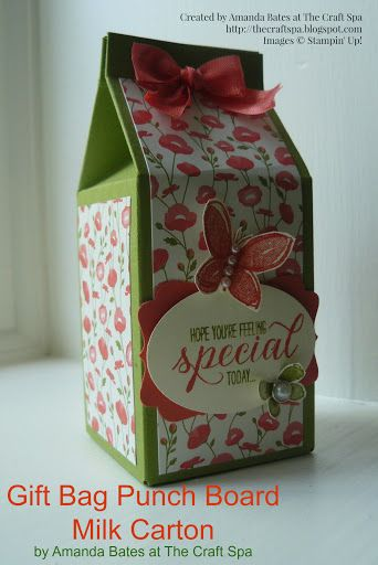 Gift Bag Punch Board Small Milk Carton