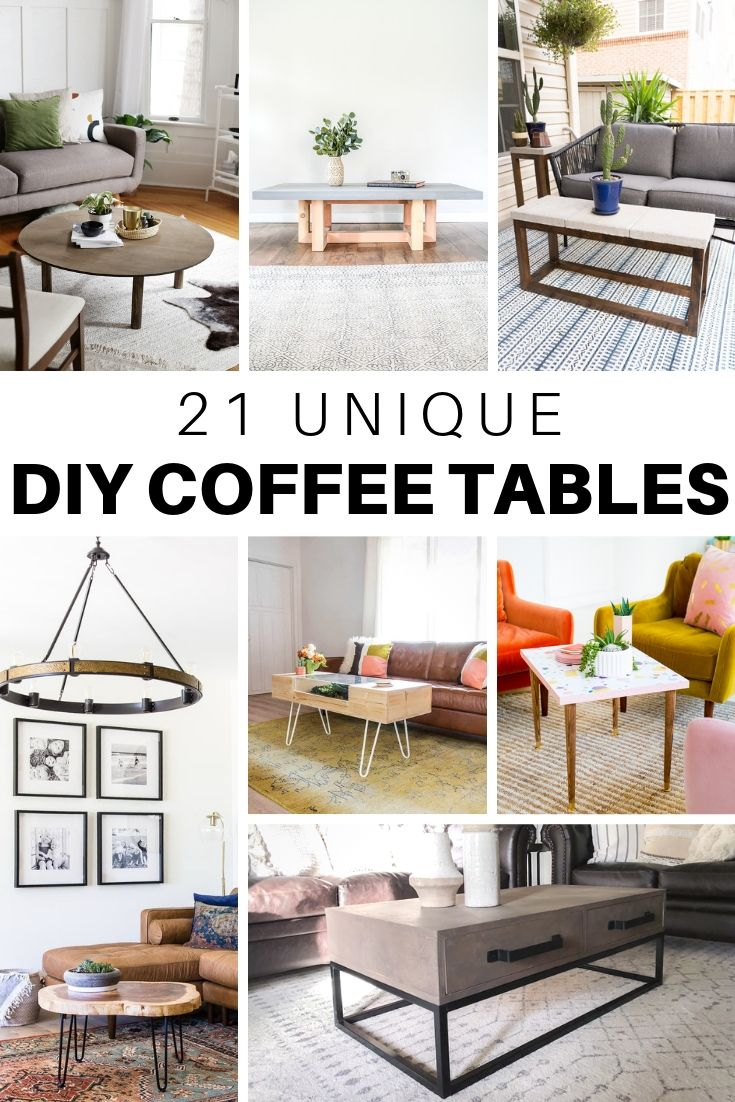 21 Unique Diy Coffee Tables Ideas And Plans The House Of Wood Coffee Table Plans Diy Coffee Table Elegant Coffee Table
