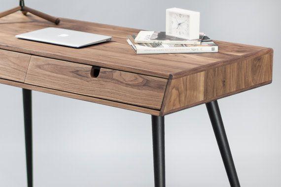 Solid Walnut wood desk dressing table office desk