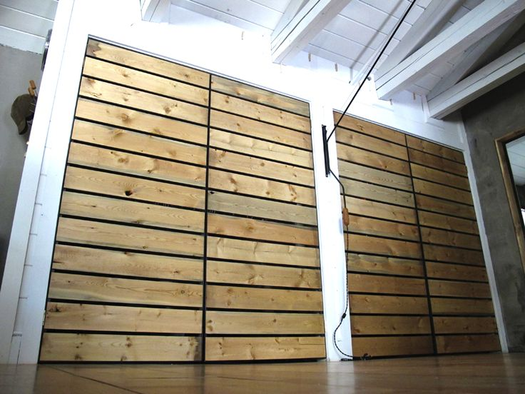 Wooden Slat Doors Remod Pinterest Closet Doors