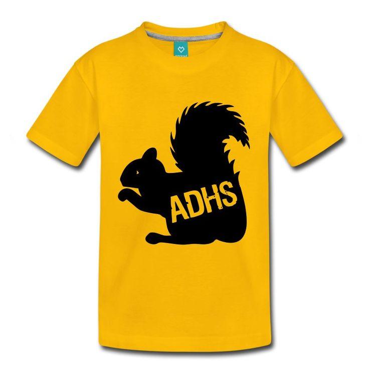 ADHS-Eichhörnchen. Tolles Design für tolle Shirts und Geschenke, speziell für Personen mit ADHS und deren Unterstützer. #adhs #eichhörnchen #ads #aufmerksamkeitsdefizitsyndrom #konzentration #kinder #erwachsene #schule #arbeit #familie #hyperaktiv #hypoaktiv #sprüche #shirts #geschenke
