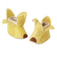 I feel like Naois needs these.. haha . I wish they came in his size! - BANANA SPLIT BOOTIES|UncommonGoods