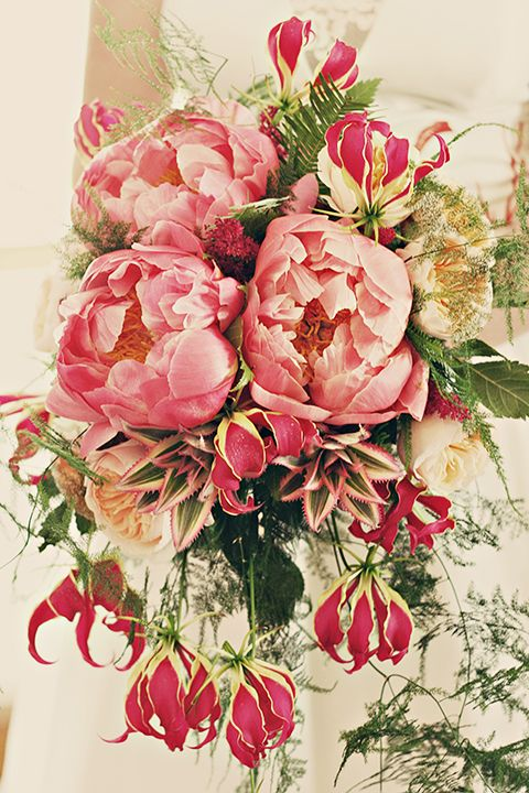 wahoo!  Emma's Delights I took this photo of a bride's bouquet and it has been featured on www.bouquet-bouqu... today!  :oD  Peonies & Baby Pineapples!