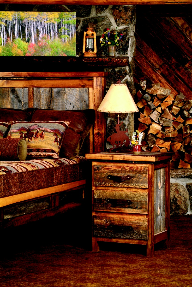 374 best images about rustic room ideas on pinterest log homes log cabin interiors and fireplaces Mountain home bedroom furniture