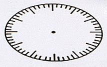 Large Clock With Seconds Rubber Stamper: Time Educational Teaching Aid