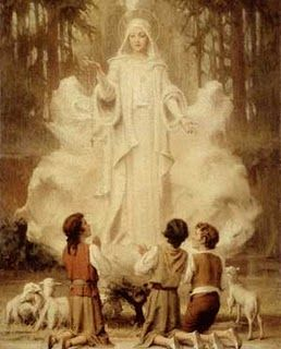 Our Lady of Fatima.  Beautiful story.  Yet so depressing when you realize how unfilled Her requests still are.