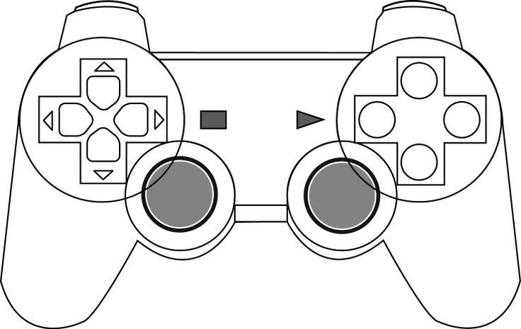 Estructura vectorizada de un control de PS3.