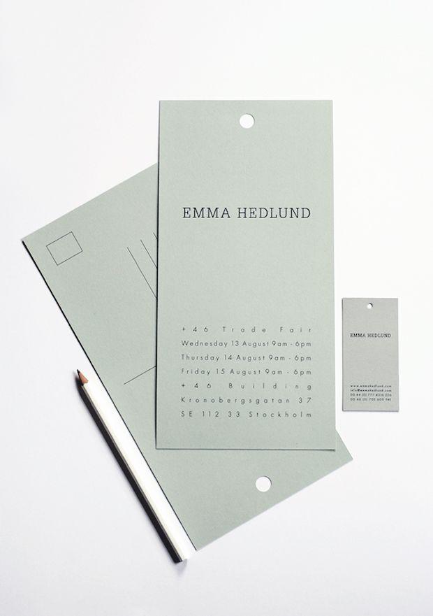 Emma Hedlund's identity by Ah Studio //