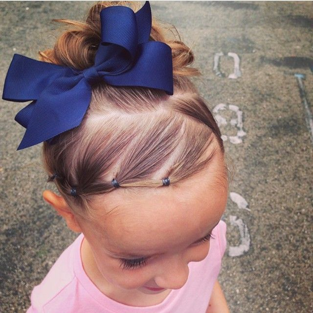 """""""This is a such a cute way to control baby hairs and bangs! Credit @taylorshairtoday ❤️"""" Photo taken by @braidsforlittlegirls on Instagram, pinned via the InstaPin iOS App! http://www.instapinapp.com (04/22/2015)"""