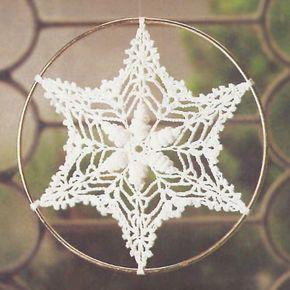 Shell Snowflake - crochet pattern