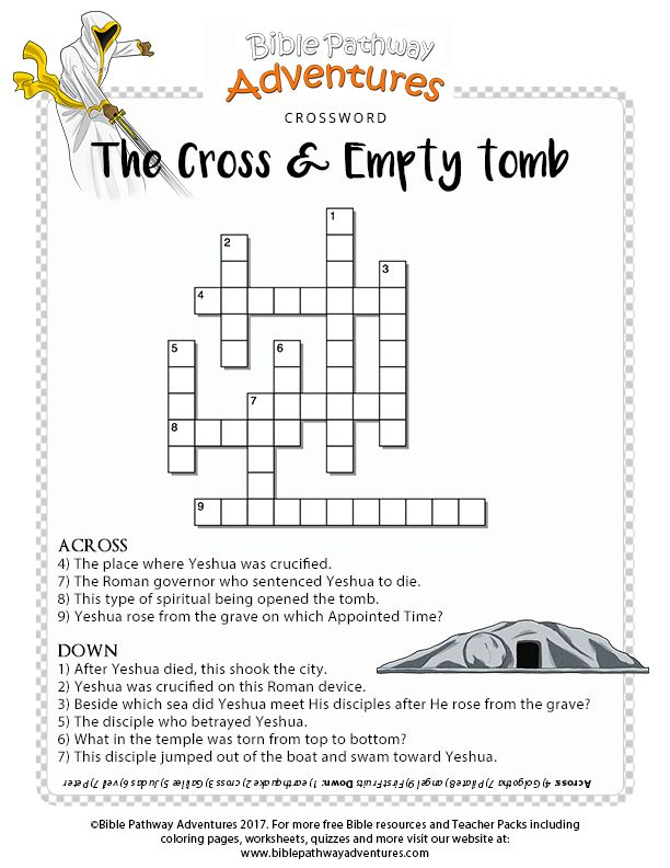 FREE Printable Bible Coloring Pages For Kids Crucifixion Resurrection Crossword