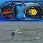 ﹩52.49. 2.4G Remote Control RC Boat High Speed Racing Sailing Ship Jet Boat Model Toys    Vintage (Y/N) - No, Material - environmentally friendly plastic, Type - Jet Boat, Motor Type - Brushless, Weight: - about 1.2 KG / 1.34 KG, Battery Capacity: - 7.4V / 1100mAh (lithium battery), Remote Control Battery: - 1 x 9V battery, Charging Time: - 120 minutes, Maximum Speed: - 40KM / h, Age: - over 8 years old, RC Distance: - over 100 meters