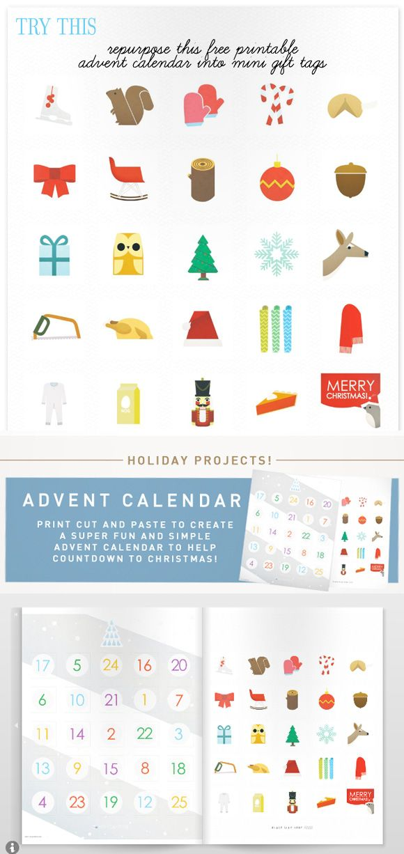 Advent Calendar Printables Free : Free holiday printable from fawn forest via creature