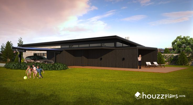 Vida - Modern Contemporary House Plan .... Browse all house plans here: www.houzzplans.co.nz