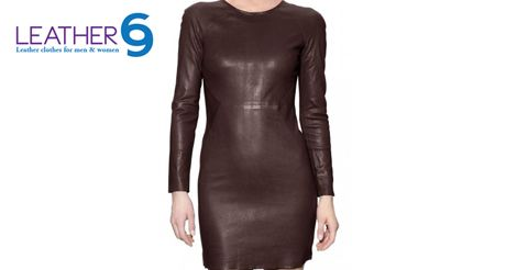 Set the party on fire with this hot leather dress. http://bit.ly/1LmZW4W #fashion #style #jacket #leather