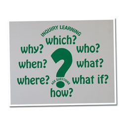 Questioning Vinyl Lettering Word Wall