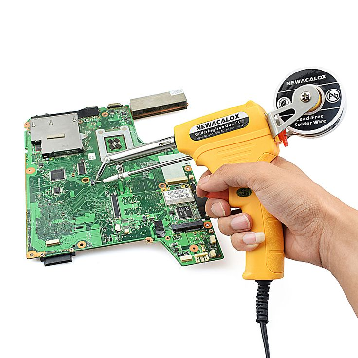 ==> [Free Shipping] Buy Best 220V 60W Soldering Iron Manual Yellow Tin Gun Suction Tin Device Electric Welding Gun Tool Single Hand Automatic Send Tin Online with LOWEST Price | 32818298589