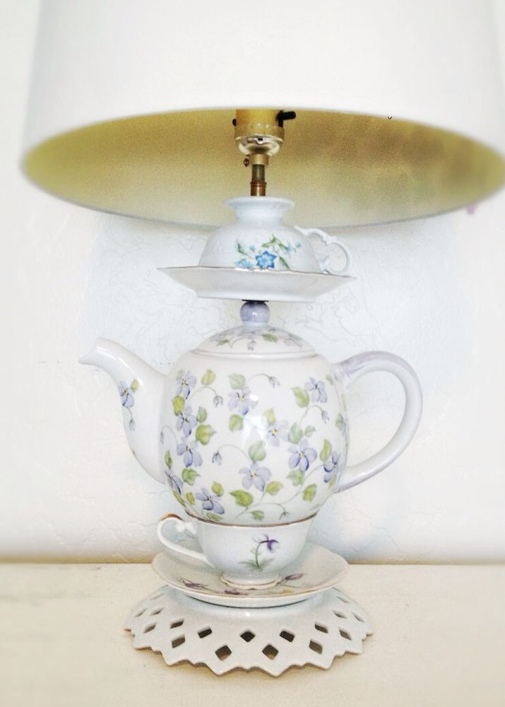 Marvelous Custom Made To Order Tea Set Teapot Lamp #Handmade