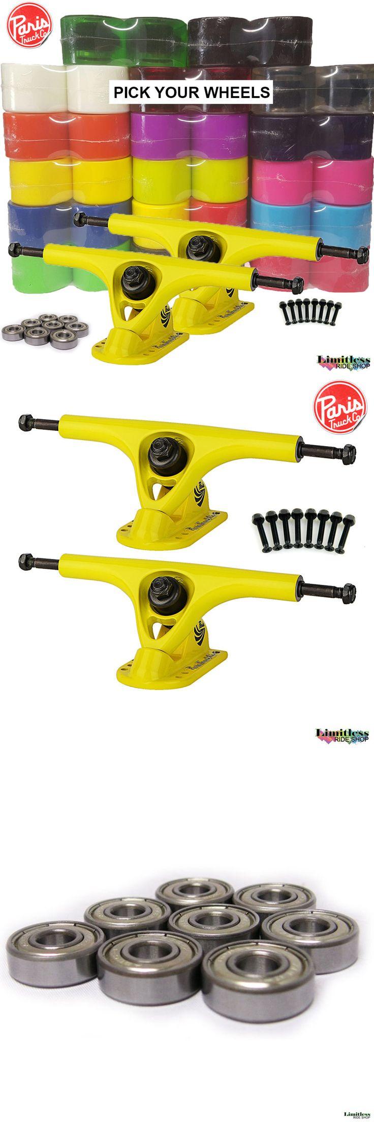 Trucks 165945: Paris Longboard Trucks 180Mm V2 Kit Yellow Yellow + 70 76Mm Wheels Skateboard -> BUY IT NOW ONLY: $56.21 on eBay!