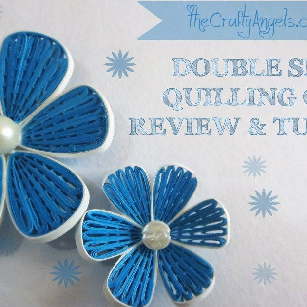 Double sided quilling comb review and tutorial, quilling, quilling tutorial, quilled flower tutorial, quilling flower tutorial