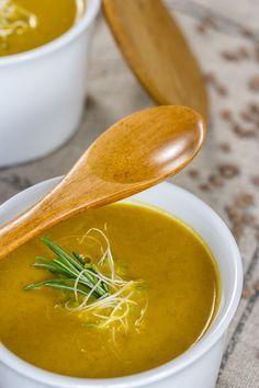 Crema de lentejas y zanahoria