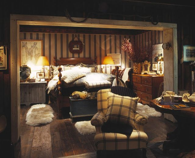 BEDROOM – Guest bedroom – The Enchanted Home: Which Ralph Lauren world would you choose?