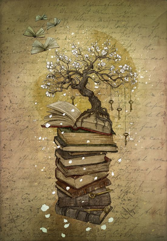 """Knowledge is the Key"" by Marine Loup Art"