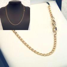 9ct Gold Long Open DC Curb Chain - MM-LDC-0002