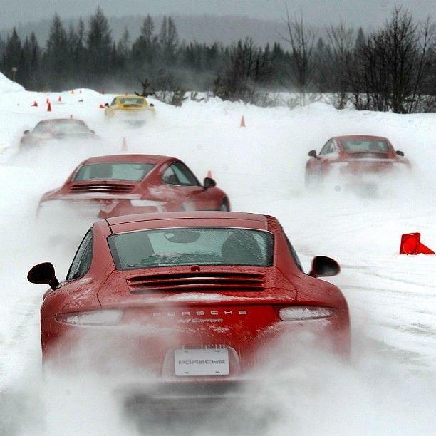 Porsche 911 Carrera Snow Play || #Porsche #Porsche911 #911 || http://wojtektylus.com/otwarcie-sezonu-2012-porsche-club-poland-w-lublinie/