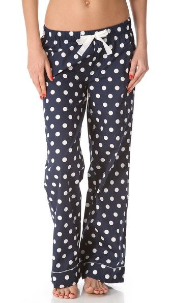 This look is so easy to make at home! Just pick your polka dot, add a ribbon drawstring or trim, and voila! | Pants from Shopbop