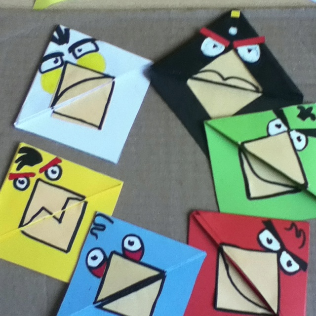 Angry birds book mark