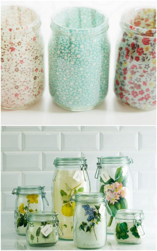 Ways To Decorate Glass Jars Classy The 50 Best Images About Diy  Reuse On Pinterest  Baby Wipes Decorating Design